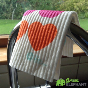 Spruce Dishcloth on Taps