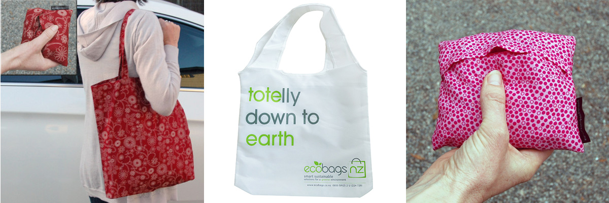 Tote bags from EcobagsNZ and Pouch Products