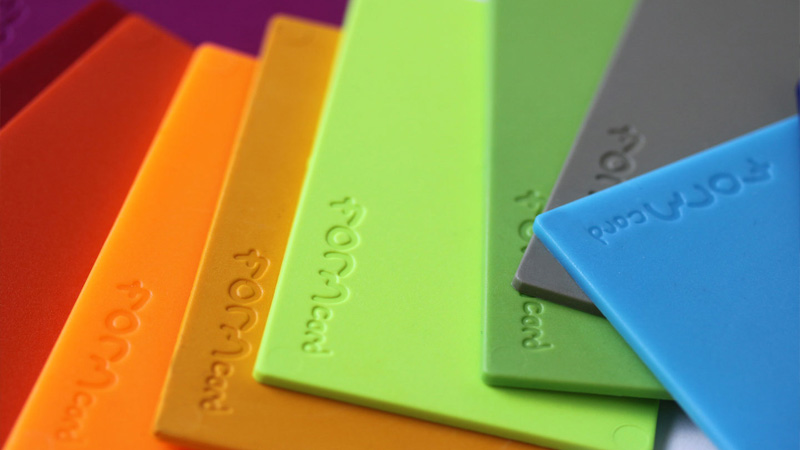 FORMcard Bioplastic Colour Selection