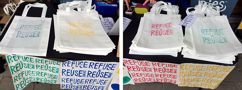 Refuse & Reuse Bag Colours