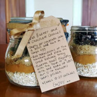 Cookie Mix Gift Jar with instructions