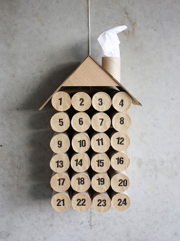 DIY Toilet Paper Roll Christmas Advent Calendar by Morning Creativity