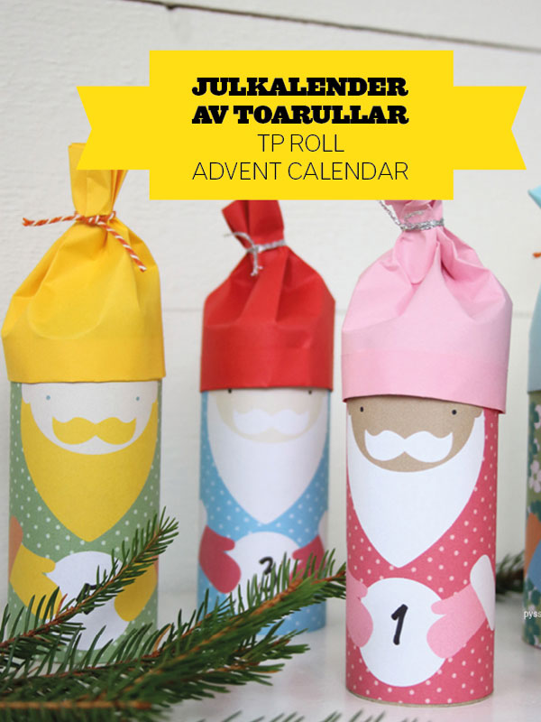 Santa Toilet Roll Advent Calendar by Pysselbolaget