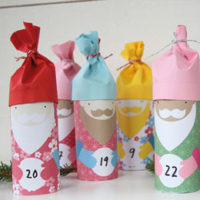 Cute Toilet Roll Santas Advent Calendar
