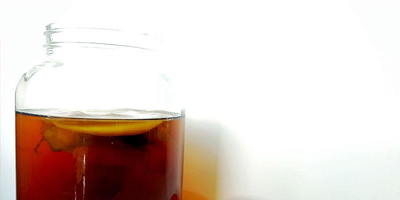 Kombucha fermented tea drink