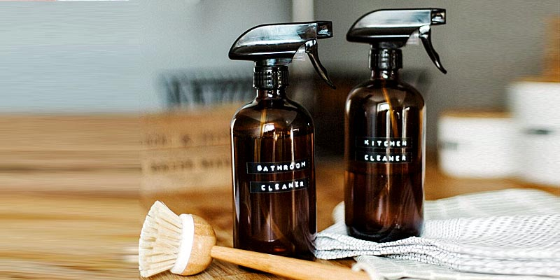 Natural Bathroom & Kitchen Cleaner bottles
