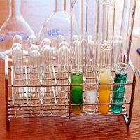 Test tubes in rack not chemical free
