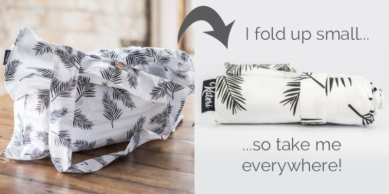 Foldable Shopping Bag by Kateri - take me everywhere for waste free shopping