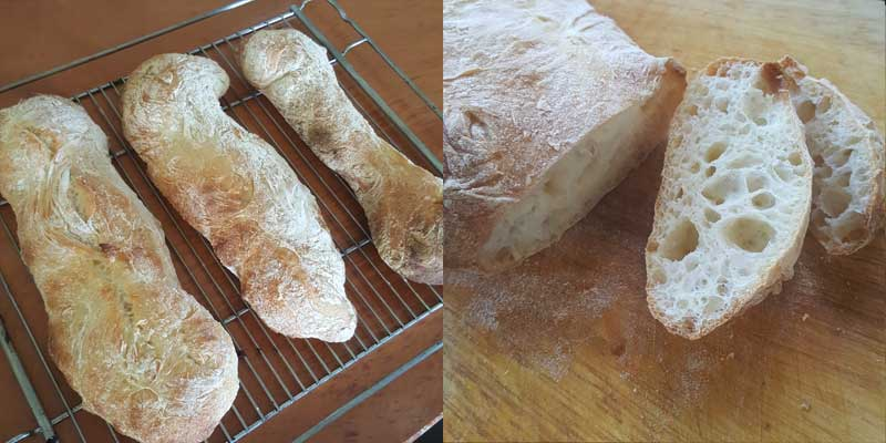 Finished Ciabatta Loaves