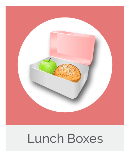Healthy Lunch Box with Apple and Roll