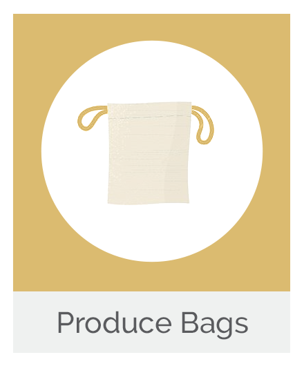 Natural Drawstring Produce Bag