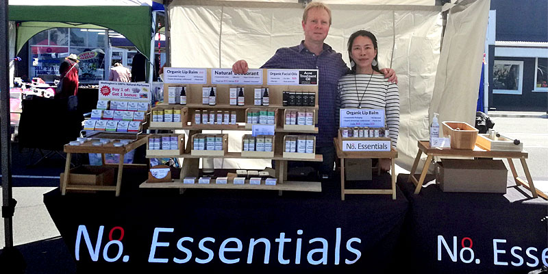 Ben and Jewel from No.8 at their market stall