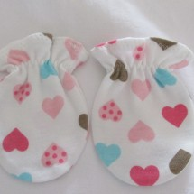 Adorable Organic Cotton  Anti Scratch Baby Mittens # 4