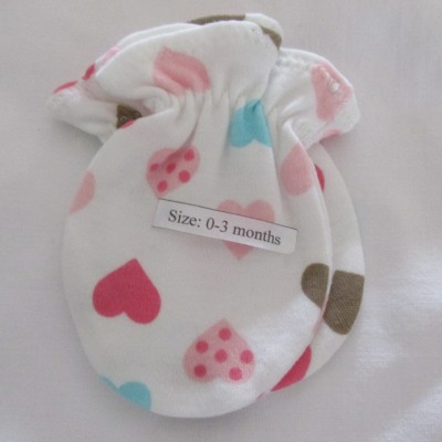 Adorable Organic Cotton Anti Scratch Baby Mittens Image