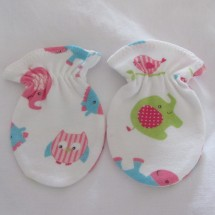 Adorable Organic Cotton Anti Scratch Baby Mittens #2