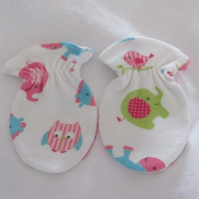 Adorable Organic Cotton Anti Scratch Baby Mittens #2 Image