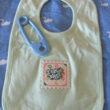 Baby Bib • Organic Cotton Bib • SHEEP Patch Image