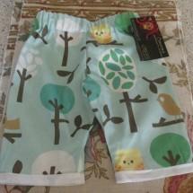 Organic Owl Pants: 0-3m