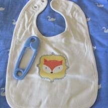 Baby Bib • Organic Cotton Bib • FOX Patch Image