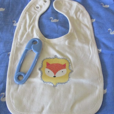 Baby Bib • Organic Cotton Bib • FOX Patch Image