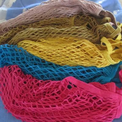 SET SIX Mesh Net Bag String Bag Shopping Reusable Image