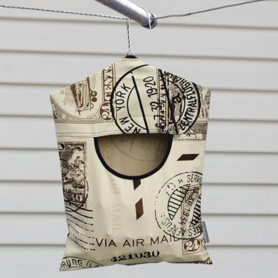 Peg Pouch | Vintage Stamps Image