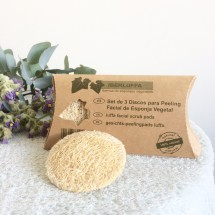 Three Facial Scrub Pads Set
