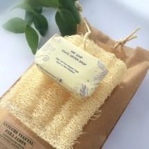 Luffa soap pouch + Palm Oil free Soap Bar - SET