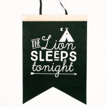 Lion Sleeps Tonight Felt Flag Image