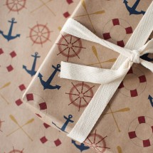 Anchors Away Wrapping Paper Image