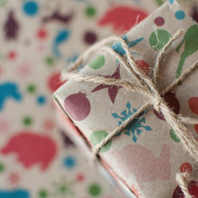 Animals Like to Party Wrapping Paper Image
