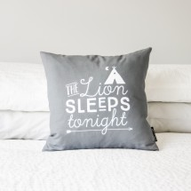 Lion Sleeps Tonight Cushion Cover