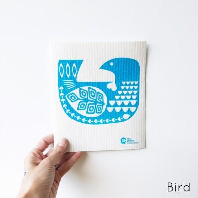SPRUCE Biodegradable Dishcloth | Bird Image