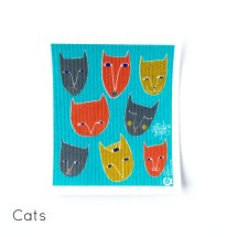 SPRUCE Biodegradable Dishcloth | Cats by Studio Soph