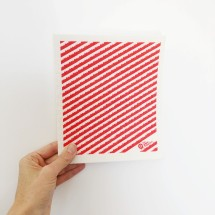 SPRUCE Biodegradable Dishcloth | Red Stripe