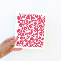 SPRUCE Biodegradable Dishcloth | Love Tree | RED