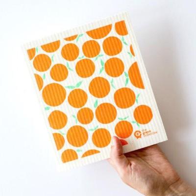 SPRUCE Biodegradable Dishcloth   Oranges Image
