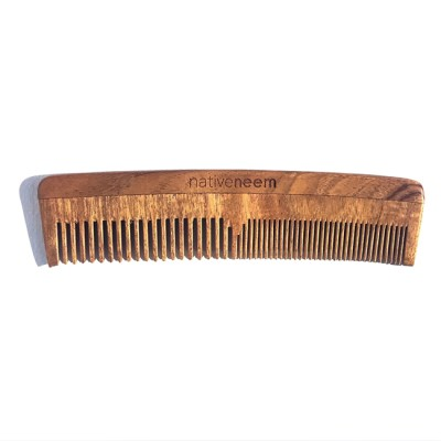 Wooden Neem Comb Mixed Tooth Image