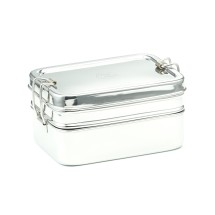 RECTANGULAR LUNCHBOX DOUBLE LAYER 14X10X8 CM