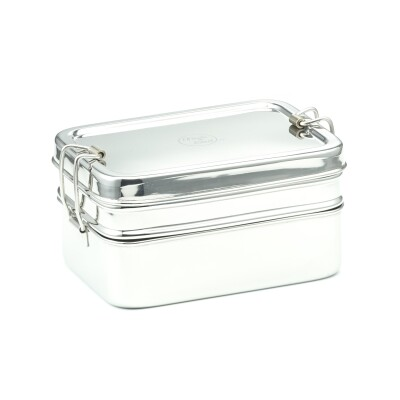RECTANGULAR LUNCHBOX DOUBLE LAYER 14X10X8 CM Image