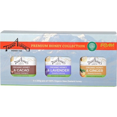 Organic Fusions Honey Gift Pack 3 x 250g Image