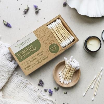 Bamboo Cotton buds, Box of 200 Image