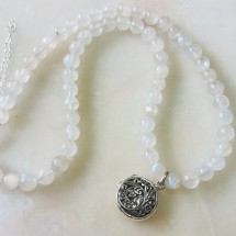 Rainbow Moonstone Aroma Necklace