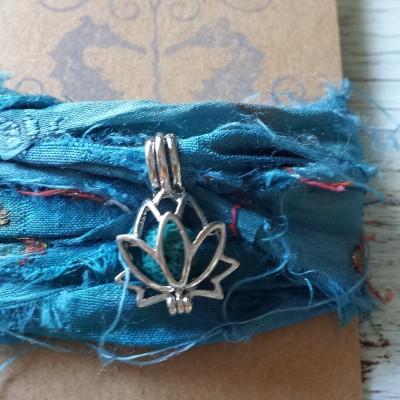Lotus Yoga Wrap Bracelet Image