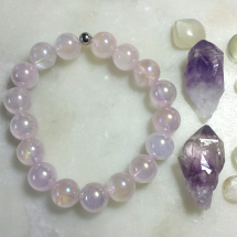 Rose Aura Quartz Bracelet