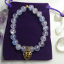 Amethyst Aura Quartz Heart Bracelet Image