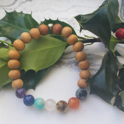 Chakra Sandalwood Bracelet Image