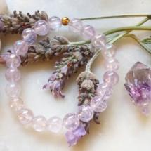 Lavender  Purple Aura Quartz Bracelet