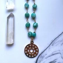 Amazonite Heart Chakra Pendant