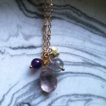 Amethyst Star Jewel Necklace
